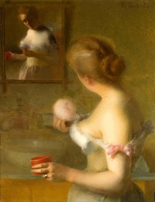 Étienne Tournes -' La Toilette' 1874 {{PD}}
