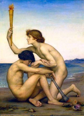 Evelyn de Morgan - 'Phosphorus and Hesperus', (1881)