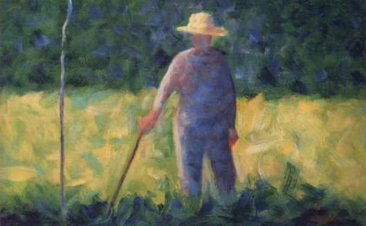 Georges Seurat - 'Le Jardinier' c1892 {{PD}}