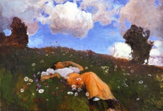 """Saimi in the Meadow"" by Eero Järnefelt 1891 {{PD}}"