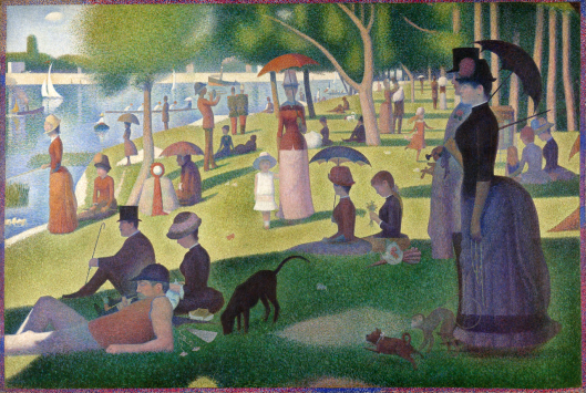 A Sunday on La Grande Jatte, Georges Seurat, 1884 {{PD}}