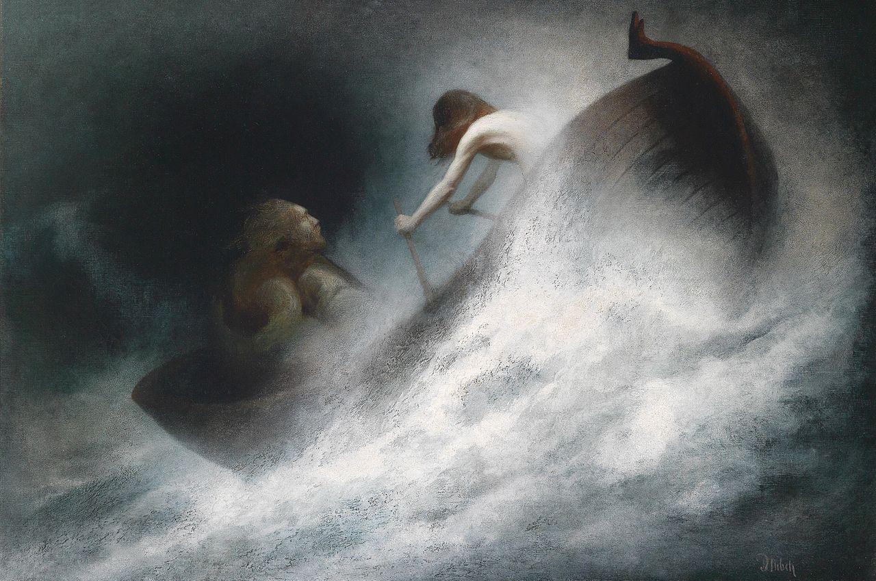 By Karl Wilhelm Diefenbach - 'Der Rettung Entgegen' 1913 {{PD}}
