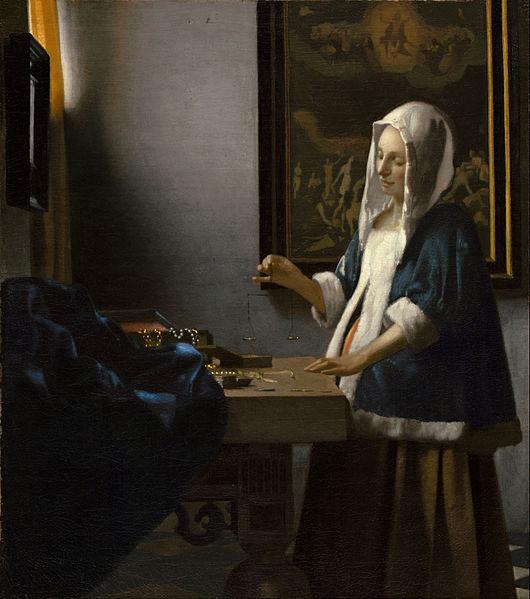 'Woman Holding a Balance' Johannes Vermeer {{PD}}