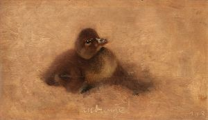 Duckling by Bruno Liljefors 1903 {{PD}}