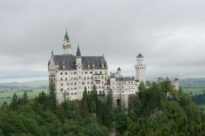 Neu Schwanstein, the castle that inspired Disney's Sleeping Beauty castle. Photo by böhringer friedrich Creative Commons Attribution-Share Alike 2.5 Generic