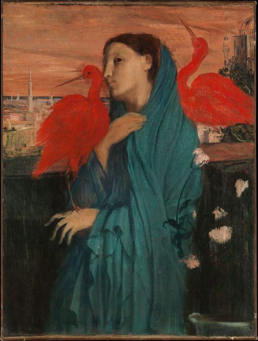 Edgar Degas - 'Jeune femme avec Ibis' c1861 {{PD}}