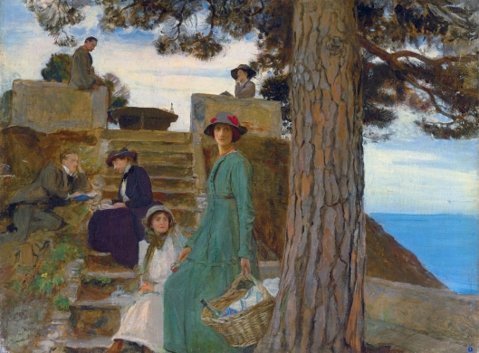 'A Picnic at Portofino' George Spencer Watson 1910 {{PD}}