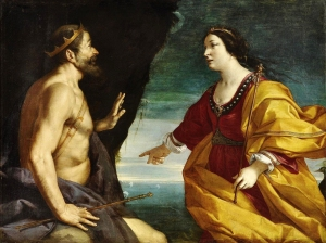 Here's Juno, telling someone what to do. Antonio Randa (Italy, 1577-1650) ' Juno and King Aeolus at the Cave of Winds' {{PD}}