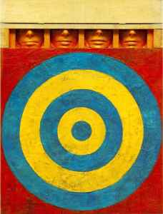 'target with Four Faces' Jasper Johns http://www.artchive.com/artchive/J/johns/target_4.jpg.html Creative Commons Attribution-Share Alike 4.0 International
