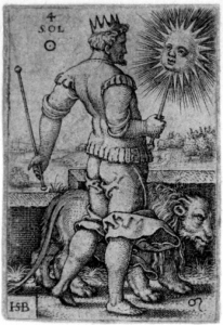 Beham, (Hans) Sebald (1500-1550): Sol, from The Seven Planets with the Signs of the Zodiac, 1539 {{PD}}