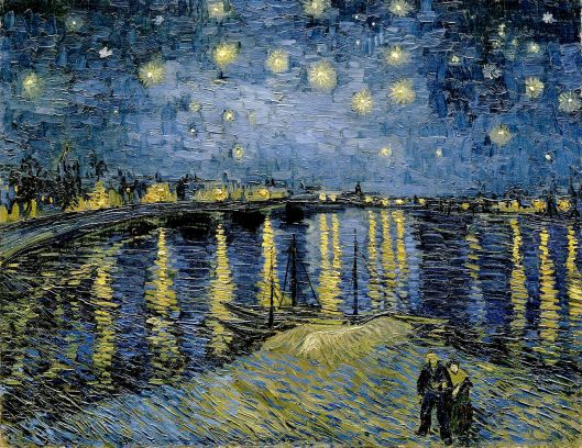 Vincent van Gogh - 'Starry Night Over the Rhone' 1887 {{PD}}