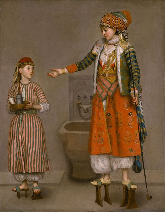 Think of your instincts as your little servant. Jean-Etienne Liotard - 'A Frankish Woman and Her Servant' Mid-18th century {{PD}}