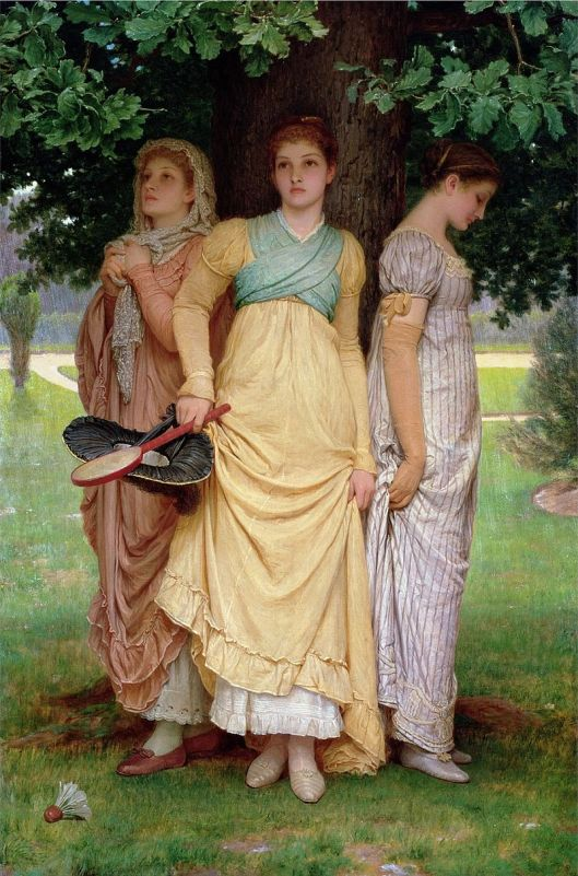 A Summer Shower, by Charles Edward Perugini 1888 {{PD}}