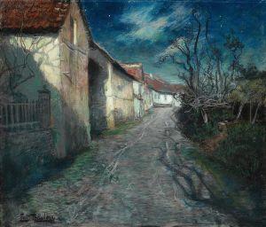 Frits Thaulow - Moonlight in Beaulieu, 1904 {{PD}}