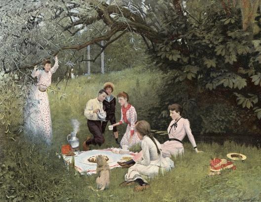 Le goûter sur l'herbe (1892) by Maurice Réalier-Dumas {{PD}}