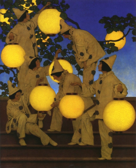 'The Lantern Bearers' Maxfield Parrish 1910 {{PD}}