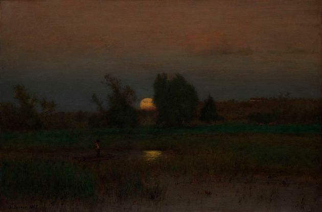 Moonrise by George Inness 1887 {{PD}}