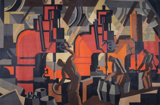 """Motor Manufacturing"" by Clive Gardiner for the Empire Marketing Board c.1930 Courtesy of the National Archives UK {{No Restrictions}}"