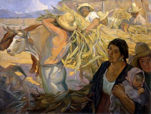 Saturnino Herrán - La cosecha, 1909 {{PD}}