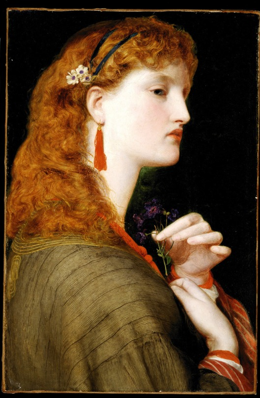 Frederick Sandys  - 'Portrait of May Margaret', 1865-6 {{PD}}