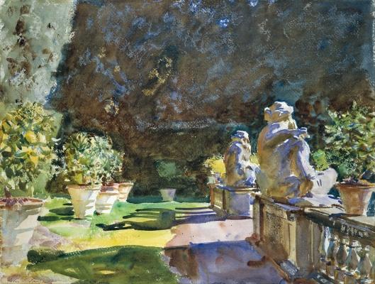 John Singer Sargent - 'Villa di Marlia, Lucca' 1910 {{PD}}