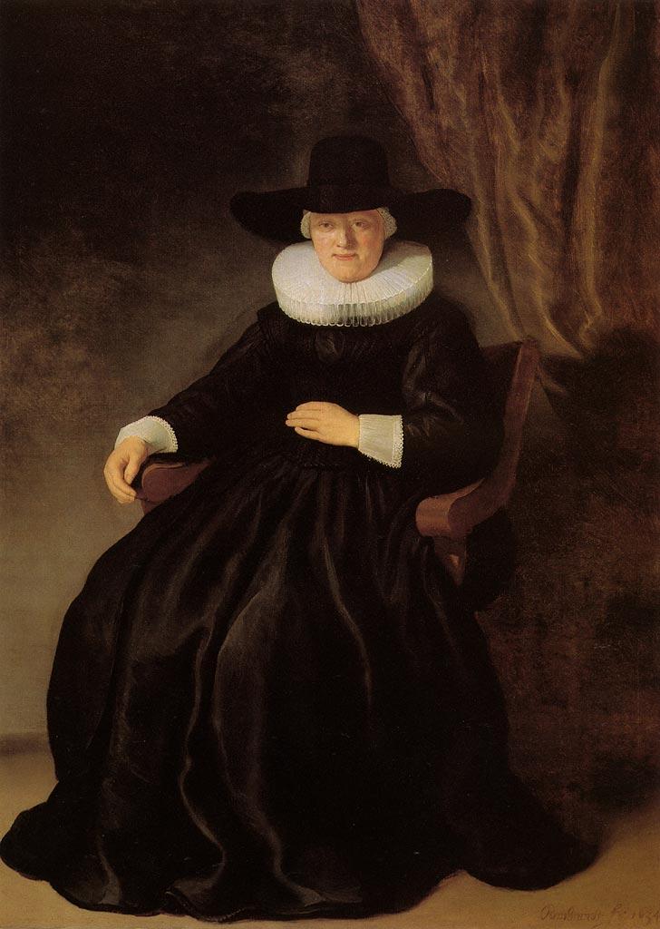 'Portrait of Maria Bockenolle' Rembrandt 1633 {{PD}}