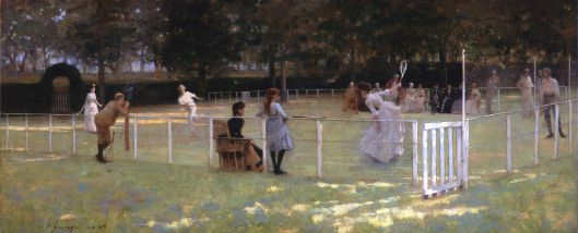 'The tennis party' J Lavery 1885 {{PD}}
