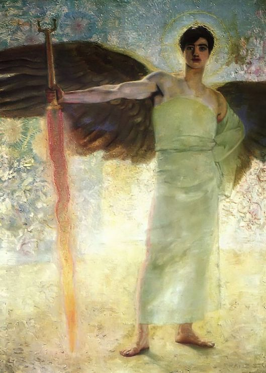 Franz von Stuck 'The Guardian of Paradise' 1889 {{PD}}