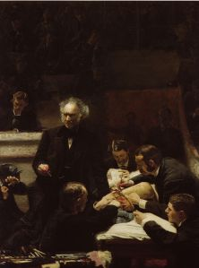 Portrait of Dr. Samuel D. Gross (The Gross Clinic) byThomas Eakins 1874 {{PD}}