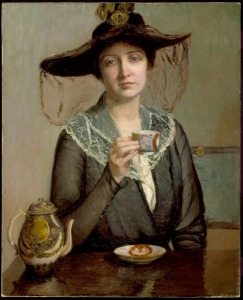 'A Cup of Tea' Lilla Cabot Perry {{PD}}