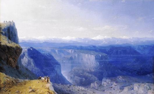 'The Caucasus'  Ivan Constantinovich Aivasovsky 1862 {{PD}}