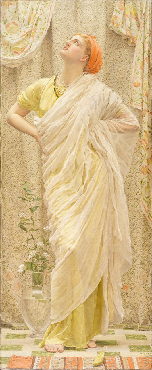 """Canaries"" Albert Joseph Moore c1880 {{PD}}"