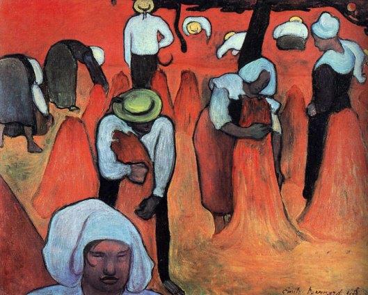 'Buckwheat Harvesters', 1888 Émile Bernard {{PD}}