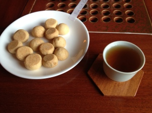 'Chinese tea and pine nut cookies' Photo by Michal Osmenda from Brussels, Belgium Creative Commons Attribution-Share Alike 2.0 Generic