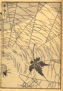 'Mt Fuji Behind a Spider Net' Katsushika Hokusai (葛飾北斎) 19th century {{PD}}