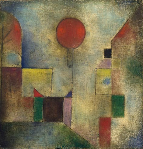 Paul Klee, Red Balloon (Roter Ballon), 1922 {{PD}}