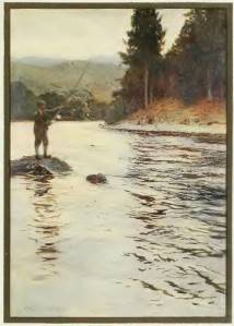 Salmon Fishing on the 'Faskally Water' from Ernest E. Briggs, (1908) Angling and Art in Scotland {{PD}}