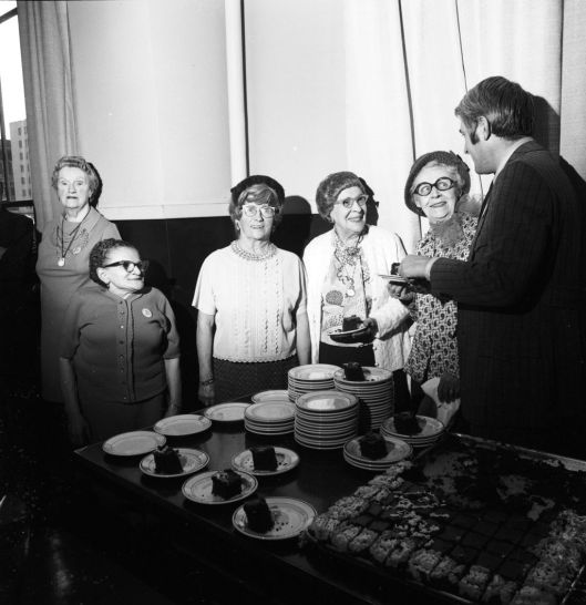 I love the faces here. By Seattle Municipal Archives from Seattle, WA - Senior citizen birthday lunch, 1973, CC BY 2.0, https://commons.wikimedia.org/w/index.php?curid=36832178