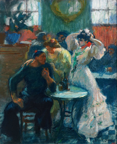 Ricard Canals - 'In the Bar' c1910 {{PD}}