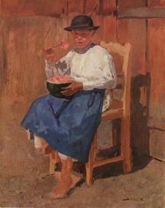 'Young Peasant (Melon-eater)' Sándor Bihari {{PD}}