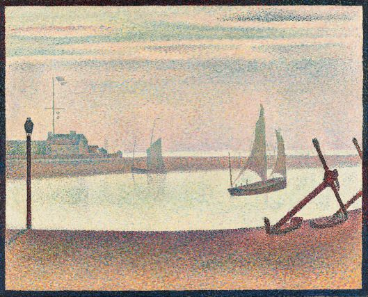 Georges-Pierre Seurat - 'The Channel at Gravelines, Evening' 1889 {{PD}}