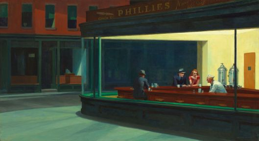 'Nighthawks' Edward Hopper 1942 {{PD}}