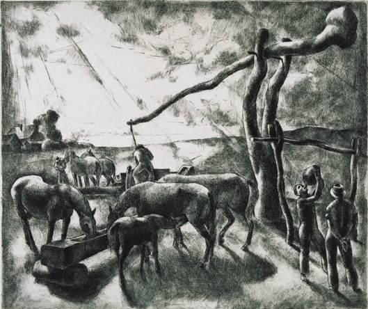 Károly Patkó 'Well Sweep' 1928 {{PD}}