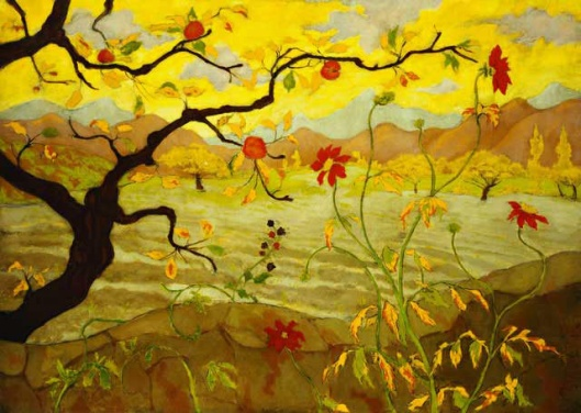 Paul Ranson. Apple Tree with Red Fruit, (c.1902) {{PD}}