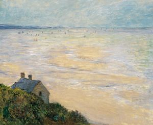 The Hut in Trouville, Low Tide (1881) By Claude Monet {{PD}}