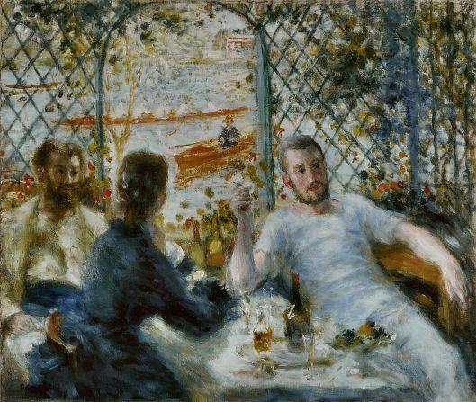 Pierre-Auguste Renoir - 'Le Déjeuner au bord de la rivière' c1879 {{PD}}