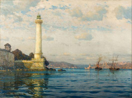 Michel Zeno Diemer - 'The Ahırkapı Lighthouse' before 1939 {{PD}}