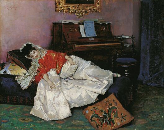 For goodness sake, read! 'La Lectura' by Raimundo Madrazo {{PD}}
