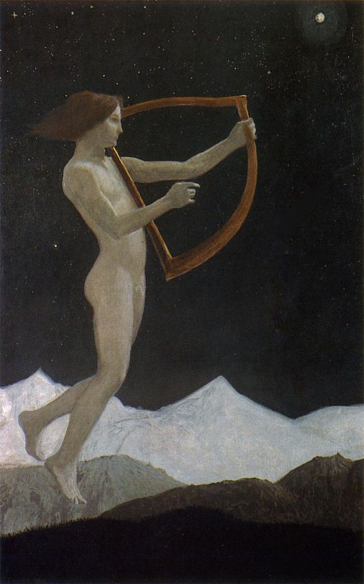 """Moon Night"" (1906) Sascha Schneider {{PD}}"