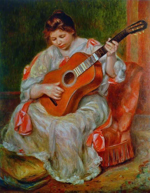 Pierre-Auguste Renoir - 'Joueuse de guitare' c1897 {{PD}}